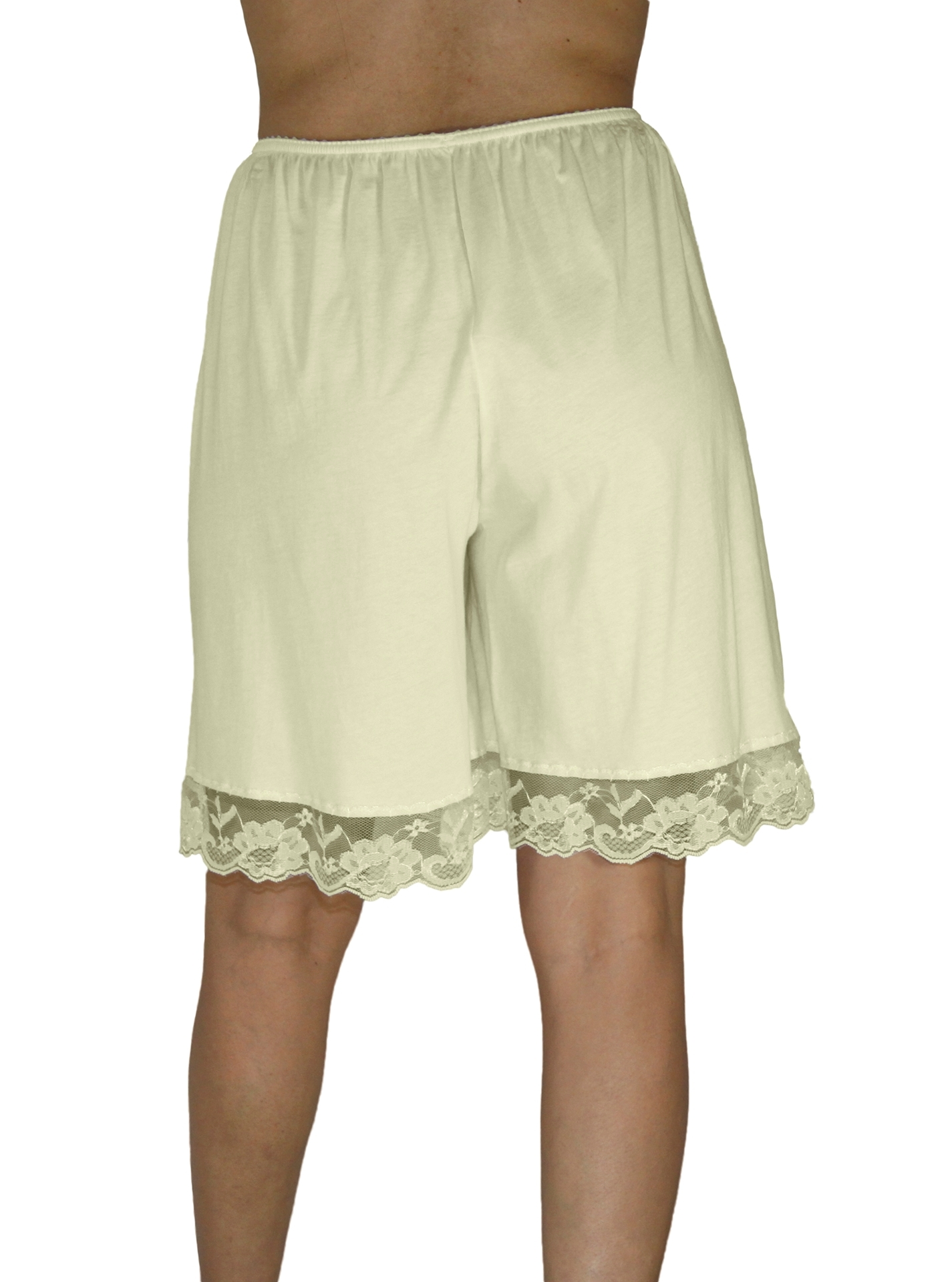 Picture of Pettipants Cotton Knit Culotte Slip Bloomers Split Skirt 9-inch Inseam