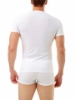 Picture of Microfiber Compression Crew Neck T-shirt with Short Sleeves - Slightly Irregular Garment